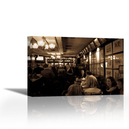 Nyc Piano Bar Ii Contemporary Fine Art Giclee On Canvas Gallery Wrap Wall Décor