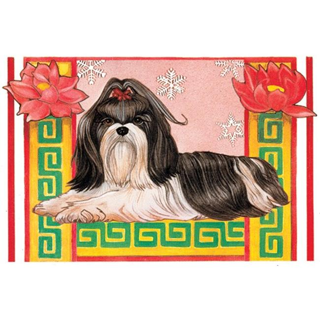 Pipsqueak Productions C920 Holiday Boxed Cards- Shih Tzu - Black and White