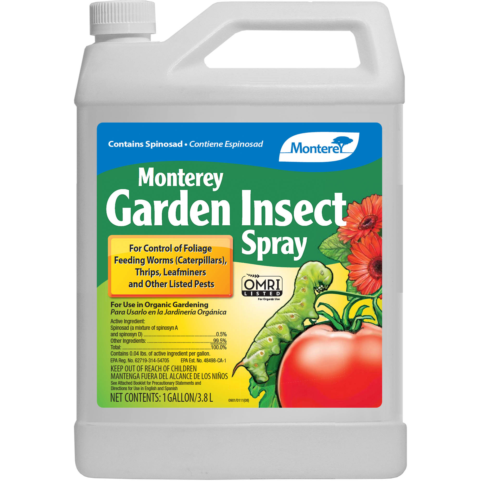 Monterey Spinosad Organic Garden Insect Spray Pint Concentrate Lg6150 Garden Ftempo