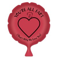 """Pack of 6 Red """"You're All Fart"""" Whoopee Cushion Party Favors 8"""""""