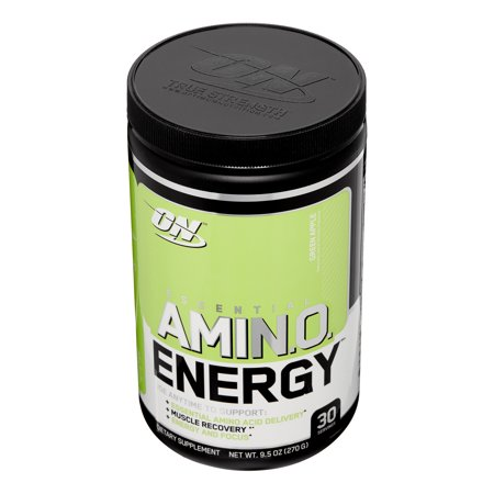 Best Optimum Nutrition Amino Energy Pre Workout + Essential Amino Acids Powder, Green Apple, 30 Servings deal