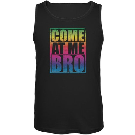 bf750c12f198f8 Old Glory - Come At Me Bro Black Adult Tank Top - Walmart.com