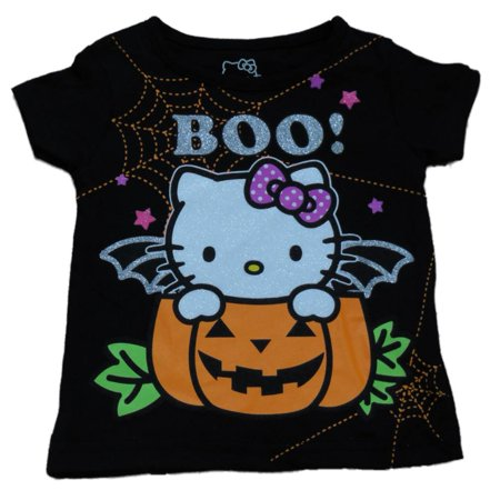 Hello Kitty Infant Baby Girls Black Halloween Shirt Pumpkin Cat T-Shirt - Hello Kitty Makeup Tutorial Halloween