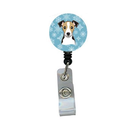 Carolines Treasures BB1695BR Snowflake Jack Russell Terrier Retractable Badge Reel - image 1 of 1