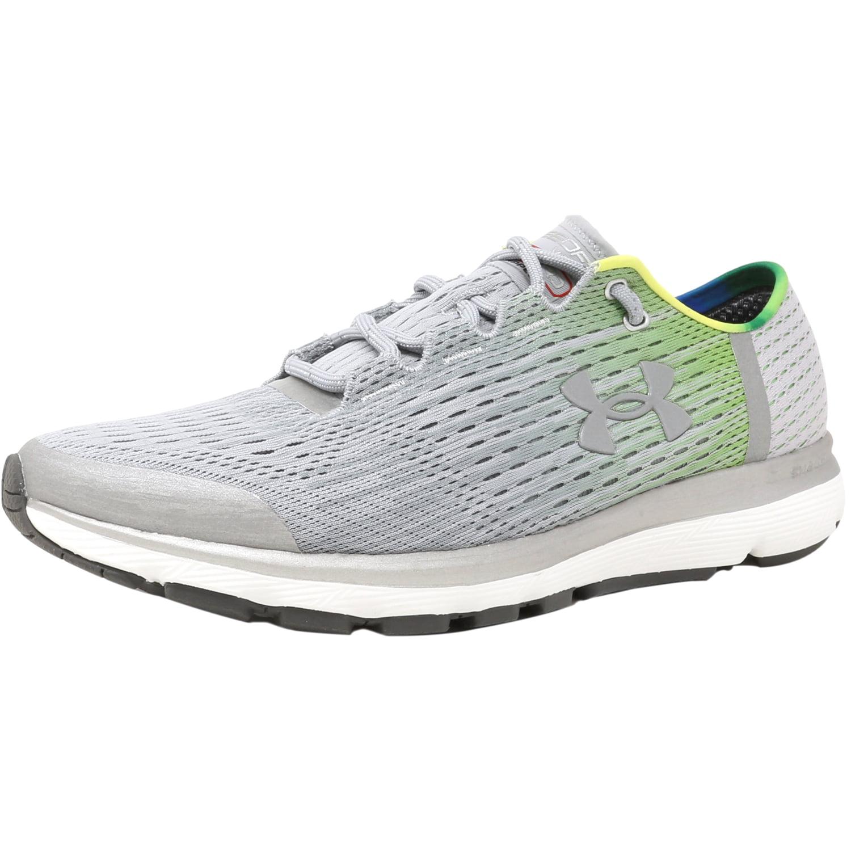 Under Armour Men's Speedform Velociti Gr Re Overcast Gray / Limelight Metallic Silver Ankle-High Running Shoe - 8.5M