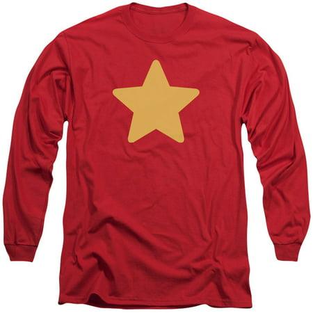 Steven Universe Men's  Star Long Sleeve Red](Funny Steven Universe)