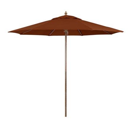 California Umbrella 9' Wood-Grain Market Patio Umbrella, Multiple Colors ()