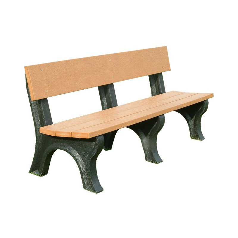 Polly Products Landmark Recycled Plastic Backed Bench