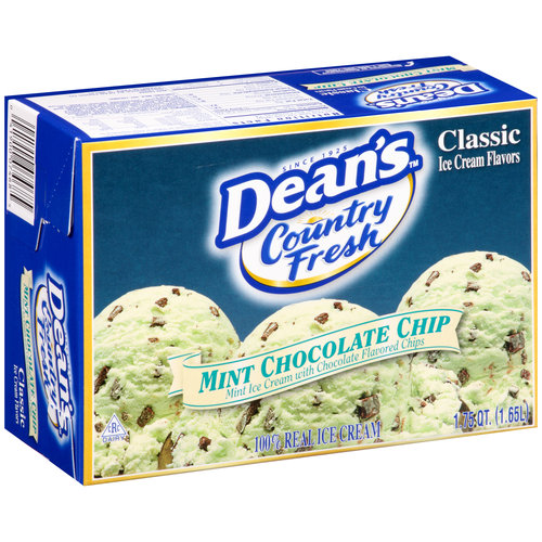 Dean's Country Fresh Mint Chocolate Chip Ice Cream, 1.75 qt