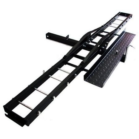 TMS 500LB Heavy Duty Motorcycle Dirt Bike Scooter Carrier Hitch Rack Hauler Trailer with Loading Ramp and Anti-Tilt Locking (Best Motorcycle Trailer Hitch)