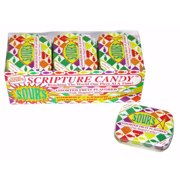Candy-Scripture Mints Pocket Tin-Sours (Pack of 9)