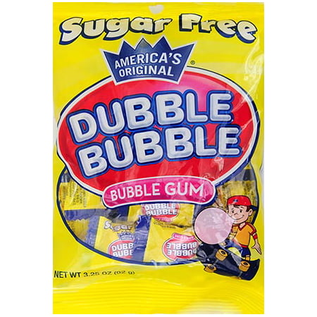 Tootsie Dubble Bubble Sugar-Free Bubble Gum, 3.25 Oz.](Pink Bubblegum)