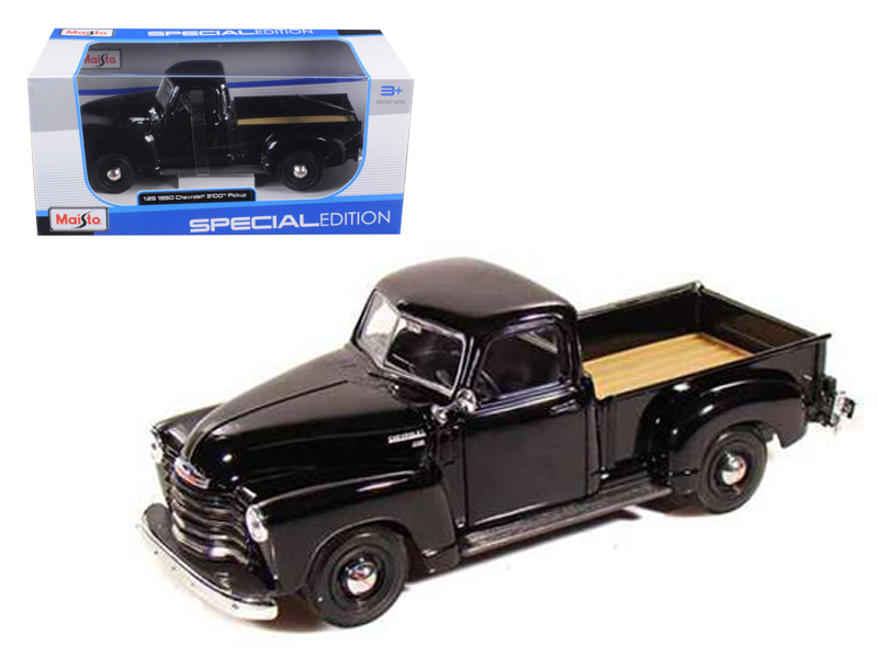 1950 Chevrolet 3100 Pickup Truck Black 1 25 Diecast Model by Maisto by Diecast Dropshipper