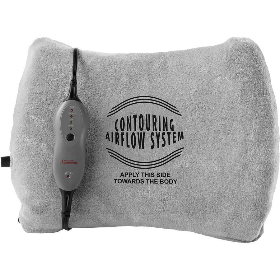 Sunbeam Back Contouring Heating Pad with Lumbar Support