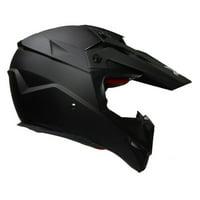 Vega Mighty X Jr. Youth Helmet, Matte Black, Size:LG