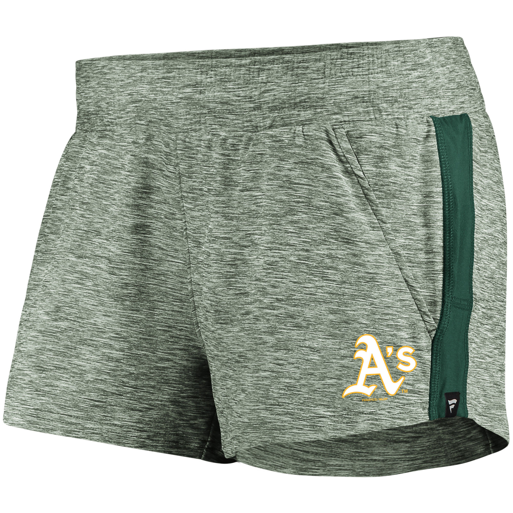 Oakland Athletics Fanatics Branded Women's Made To Move Running Shorts - Heathered Green/Green