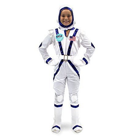 Boo! Inc. Spunky Space Cadet Astronaut Suit Kids Halloween Costume Dress Up](Astronaut Costume For Adults)