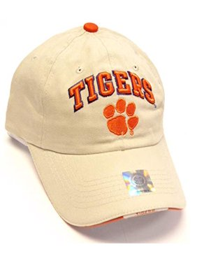 Product Image Clemson Tigers NCAA HMI Khaki Tan Relaxed Slouch Hat Cap Paw  Logo Adult Men s Adjustable a7e56f33c8c9