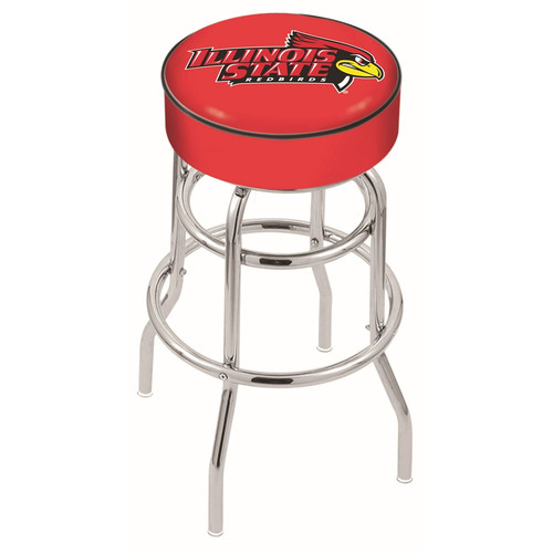 NCAA Swivel Stool with Double Ring Base by Holland Bar Stool, 25'' - Illinois State