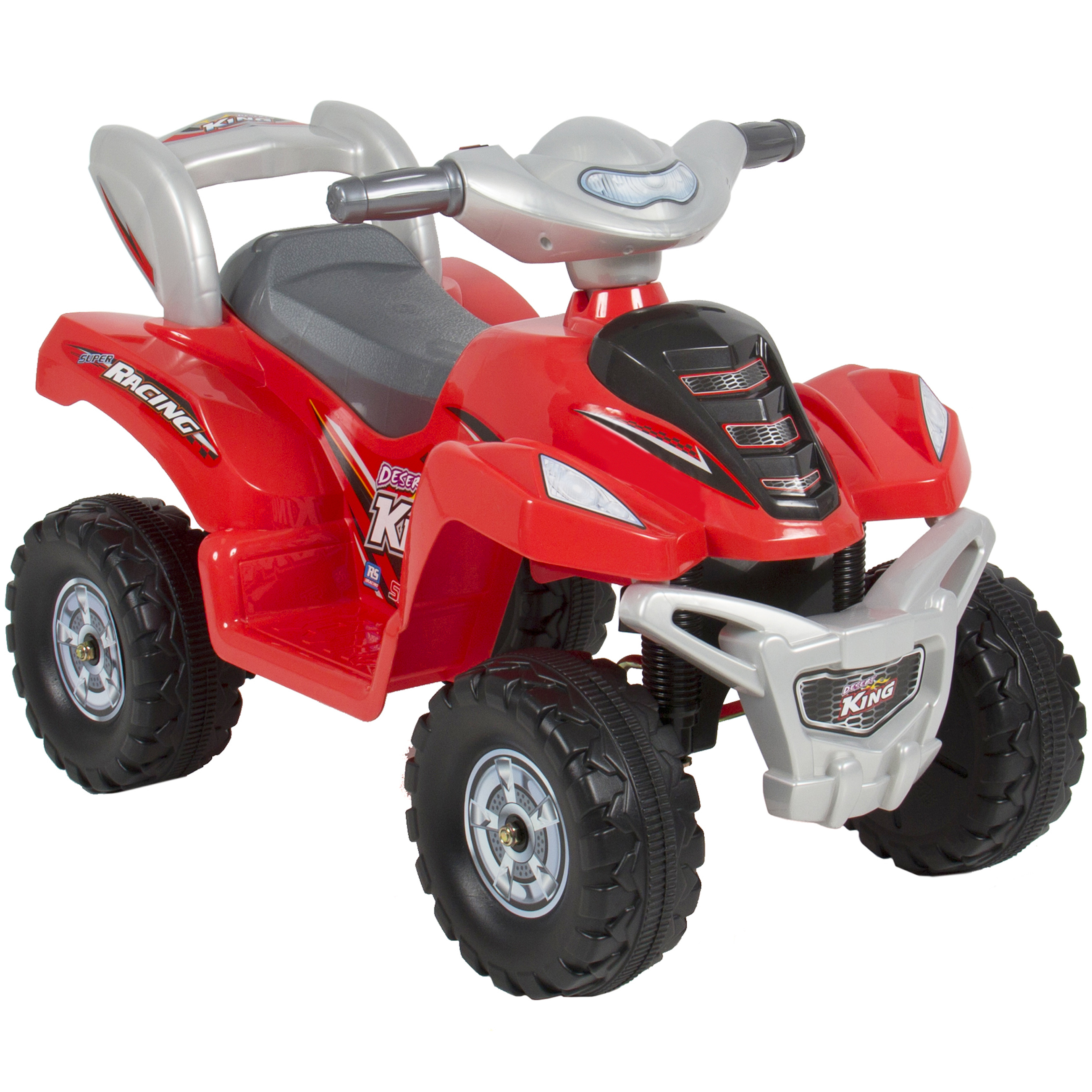 kids ride on atv 6v toy quad battery power electric 4 wheel power bicycle red walmartcom