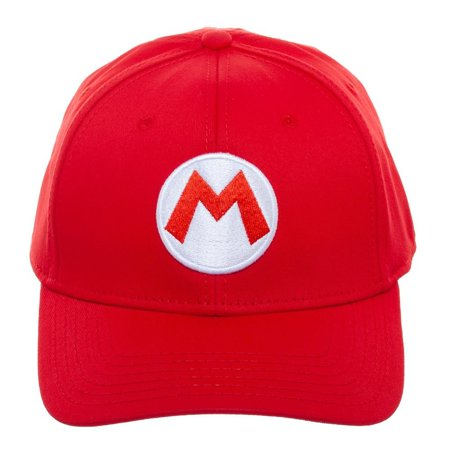 Baseball Cap - Nintendo - Super Mario Red Flex Fit Hat New bx6u49smb](Mario Bros Hat)
