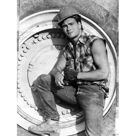 Patrick Swayze Posed in Construction Outfit Print Wall Art By Movie Star News