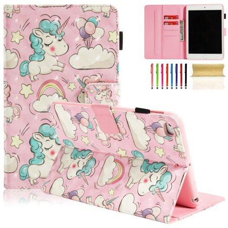iPad mini 5 2019 Case, Dteck PU Leather Folio Smart Cover with Auto Sleep Wake Stand Wallet Case For iPad mini 1 2 3 4 5 7.9 inch,Pink