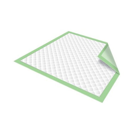 Chux Disposable Underpads by Healthline, Disposable Waterproof Absorbent Incontinence Bed Pads for Adults, Elderly, Pets, Medical Chucks Pads & Mattress Protector, 23X36, 50/Case, Green