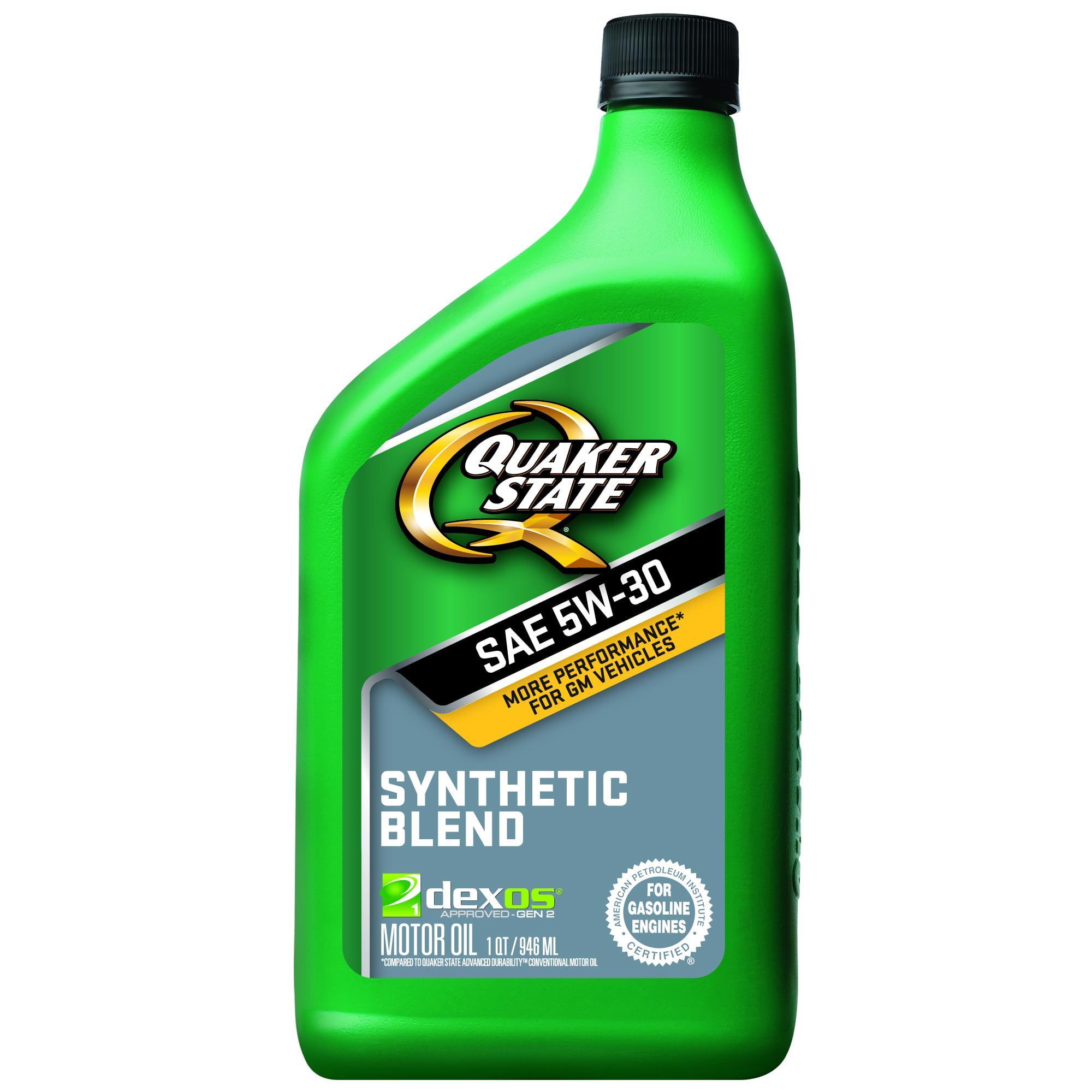 Quaker State 5W-30 Dexos Synthetic Blend Motor Oil, 1 qt
