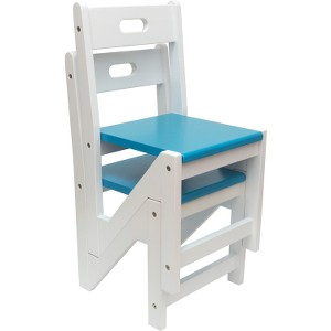 Lipper Kids' ZigZag Stacking Chairs, Set of 2 - Blue