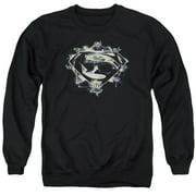 Man Of Steel Skulls And Symbols Mens Crewneck Sweatshirt