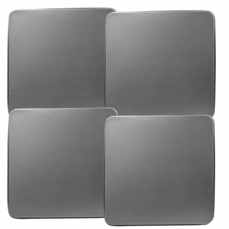 Calypso Basics, Tin Gas Square Burner Cover Set of 4, Stainless Steel