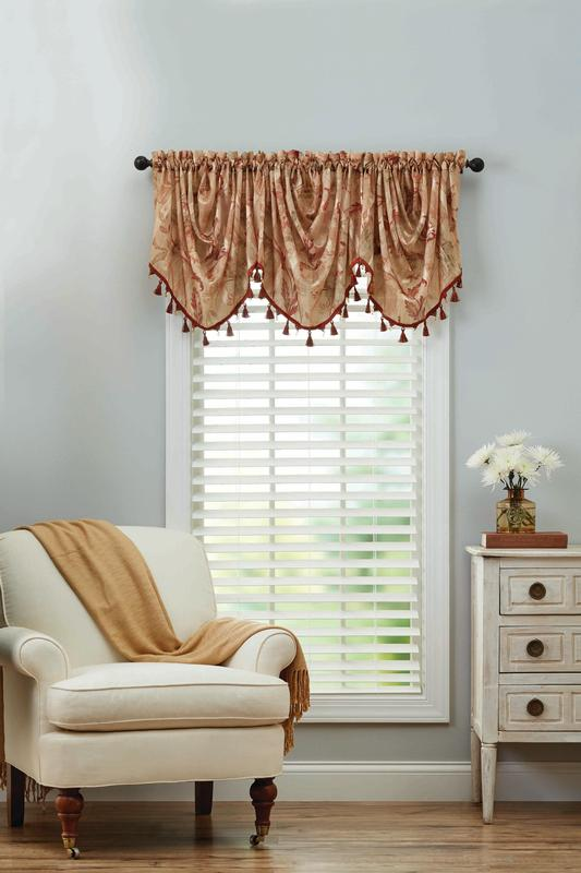 Better Homes and Gardens Eva Trumpet Scroll Valance by Keeco
