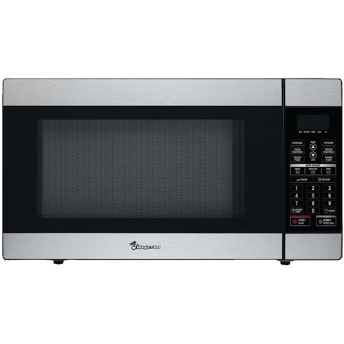 Magic Chef 1.8 cu ft 1,100W Stainless Microwave with Digital Touch