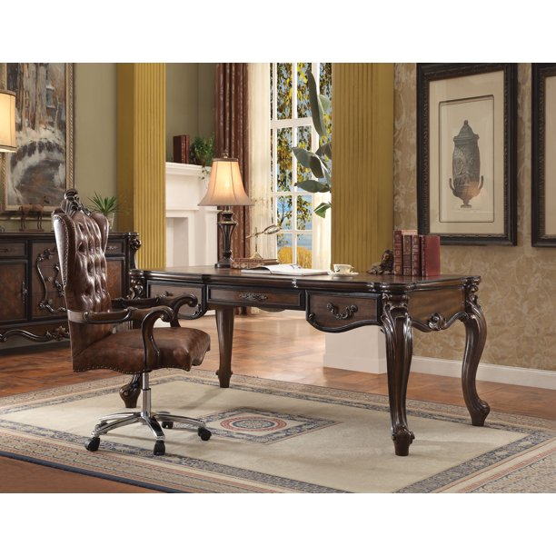 Acme Versailles Computer Desk Hutch In Cherry Oak Multiple Colors Walmart Com Walmart Com