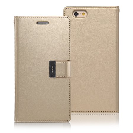 Iphone 6S Plus Case   Iphone 6 Plus Case  Drop Protection  Goospery  Rich Diary  Wallet Type  Premium Soft Synthetic Leather Case  Id Card   Cash Slot  Cover For Apple Iphone 6S Plus   6S Plus  5 5