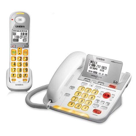 Uniden D3098 Corded/Cordless Phone with Large Backlit LCD Display and