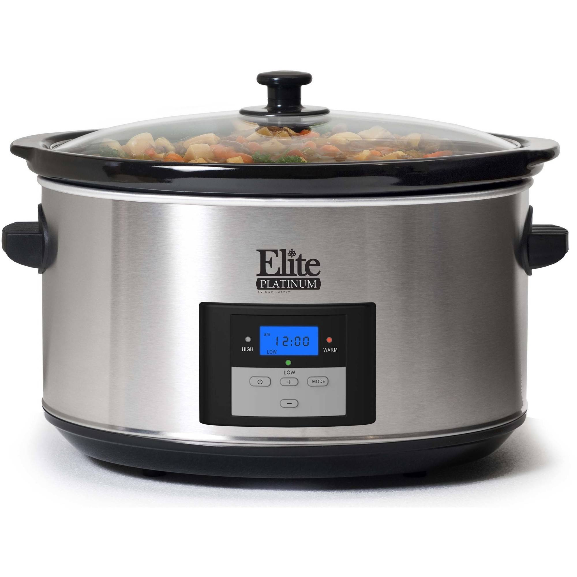 Elite Platinum MST-900D Maxi-Matic 8.5 Quart Digital Programmable Slow Cooker, Oval Stainless