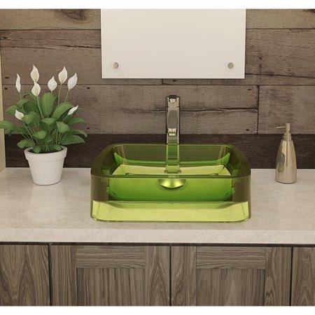 DecoLav Lacee Incandescense Plastic Rectangular Vessel Bathroom Sink