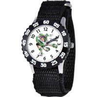 Toy Story Buzz Lightyear Boys' Stainless Steel Watch, Black Strap