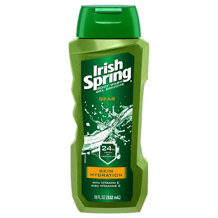 Irish Spring Gear Skin Hydration, Moisturizing Body Wash - 18 fluid ounce