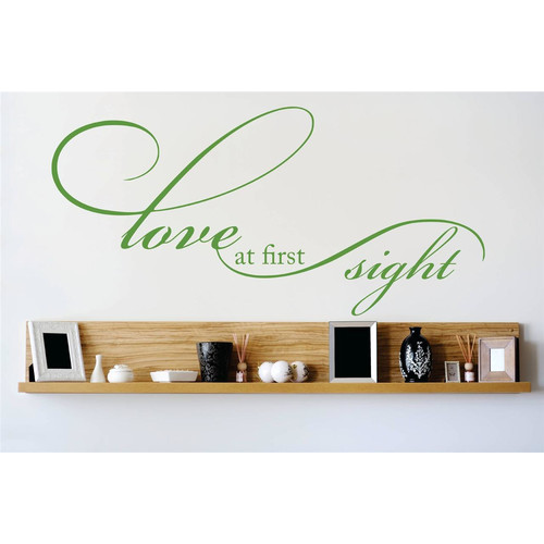 Design With Vinyl Love At First Sight Wall Decal
