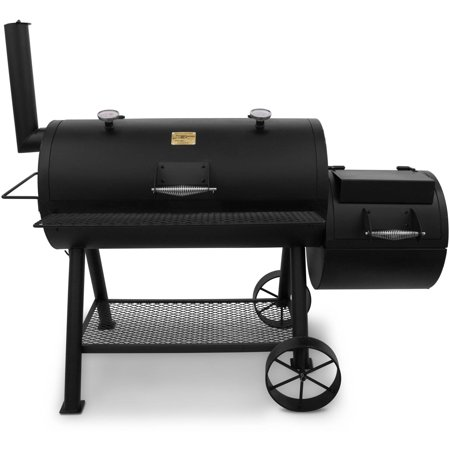 char broil oklahoma joe 39 s longhorn offset smoker grill. Black Bedroom Furniture Sets. Home Design Ideas