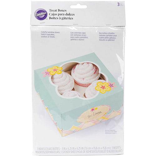 Wilton 4-Cavity Cupcake Box, Garden Flower 3 ct. 415-0003