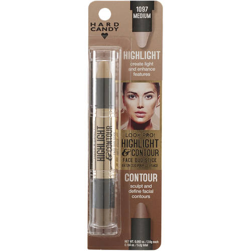 Hard Candy Look Pro! Highlight & Contour 1097 Medium, 0.184 oz
