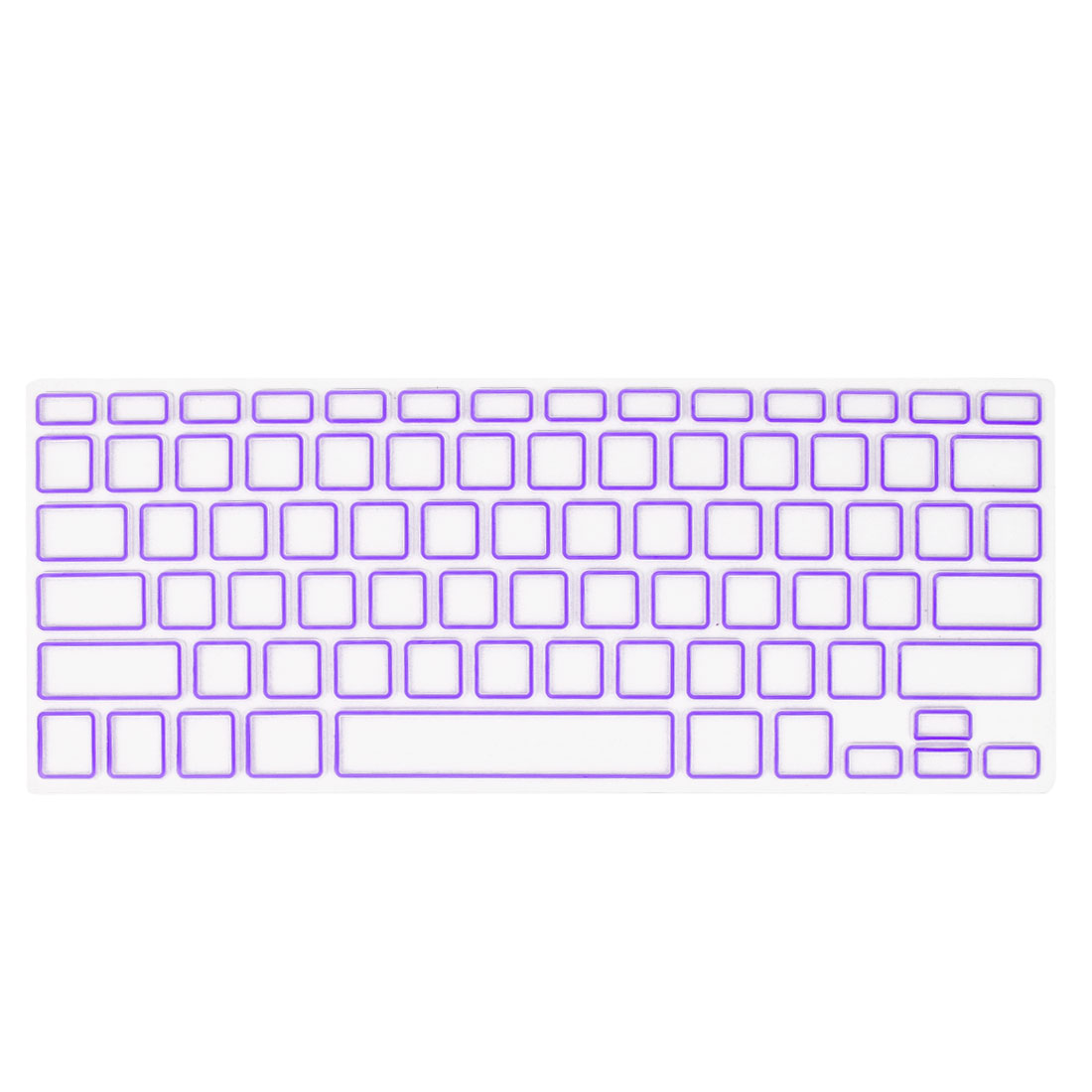 Unique Bargains Computer Keyboard Cover Protective Film Purple Clear for Apple MacBook Air 13.3""