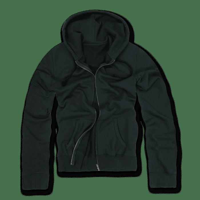 DECKY Zip Up Hoody Hoodie Solid Sweatshirt S M L XL 2XL For Men Women Black V02