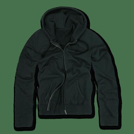 DECKY Zip Up Hoody Hoodie Solid Sweatshirt S M L XL 2XL For Men Women Black