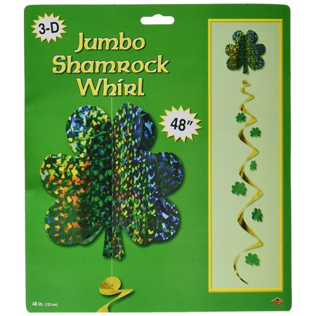 Jumbo Shamrock Whirl Party Accessory (1 count) (1/Pkg), This item is a great value! By Beistle - Party Items