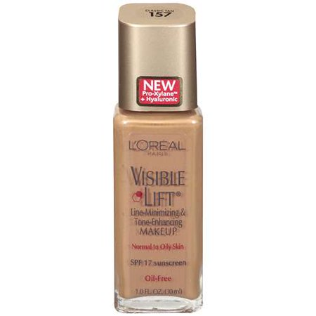 Loreal Visible Lift Line-Minimizing Oil-Free Makeup for Normal to Oily Skin, SPF 17, 1.0 fl.